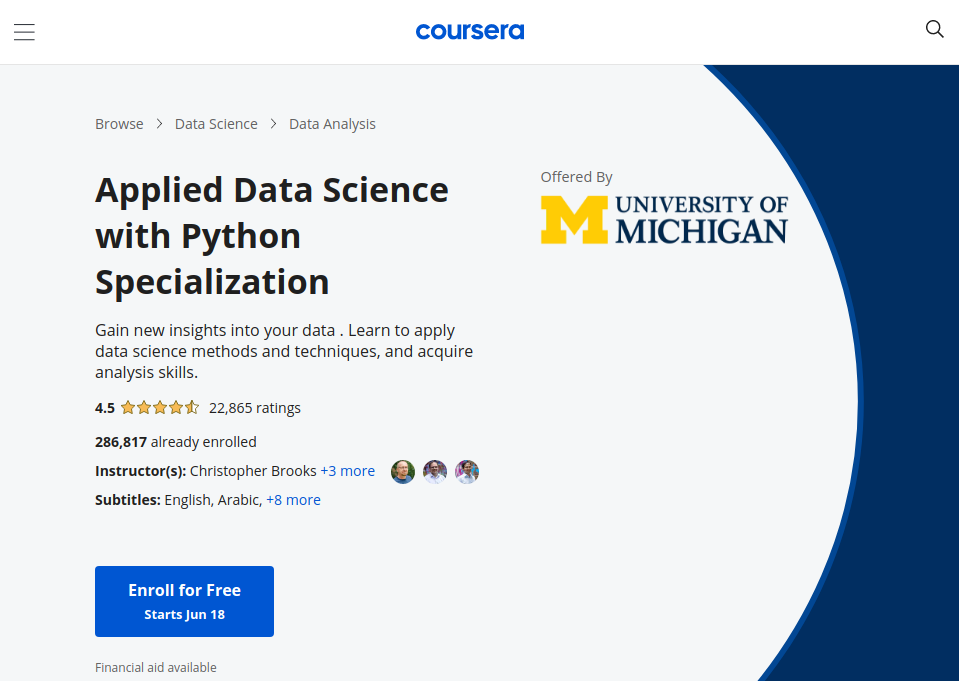 Applied data science with python specialization on courserareviewed