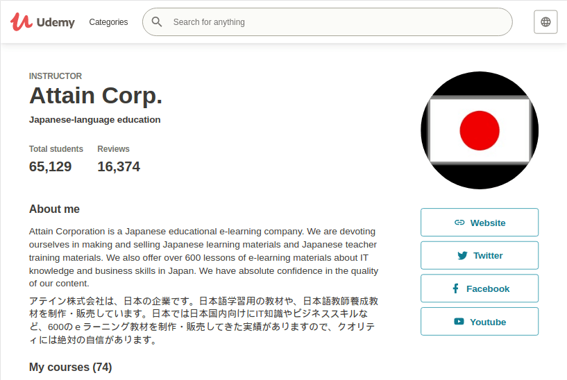 Japanese learning at Attain Corp. Review for JLPT