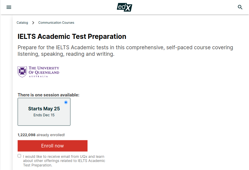 Free preparation for ielts on edx course review