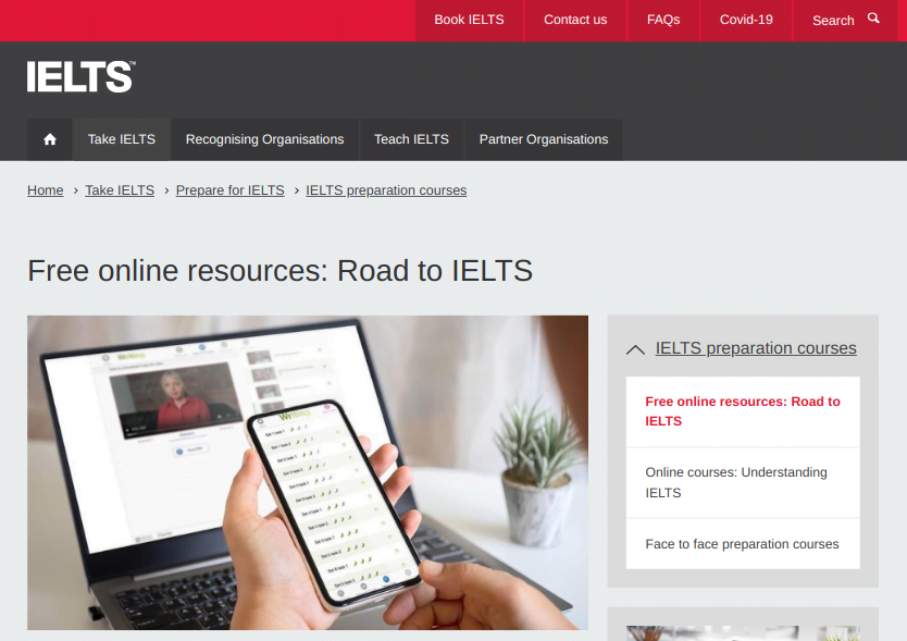 Road to ielts free course by british council review