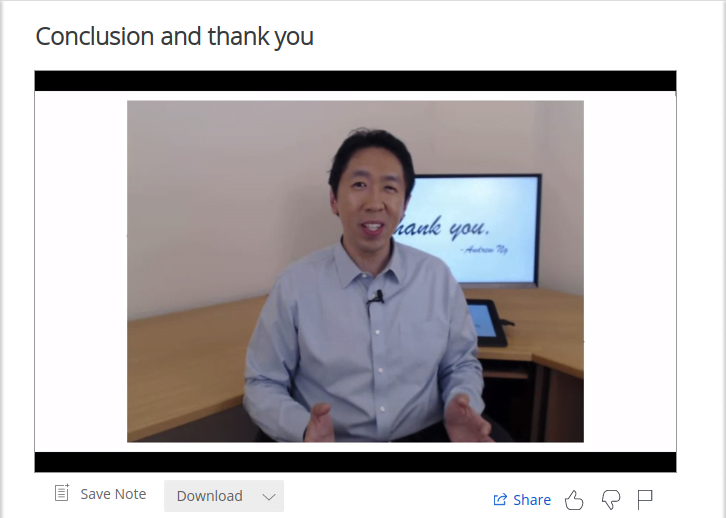 Andrew ng's last speech of the deep learning ai specialization