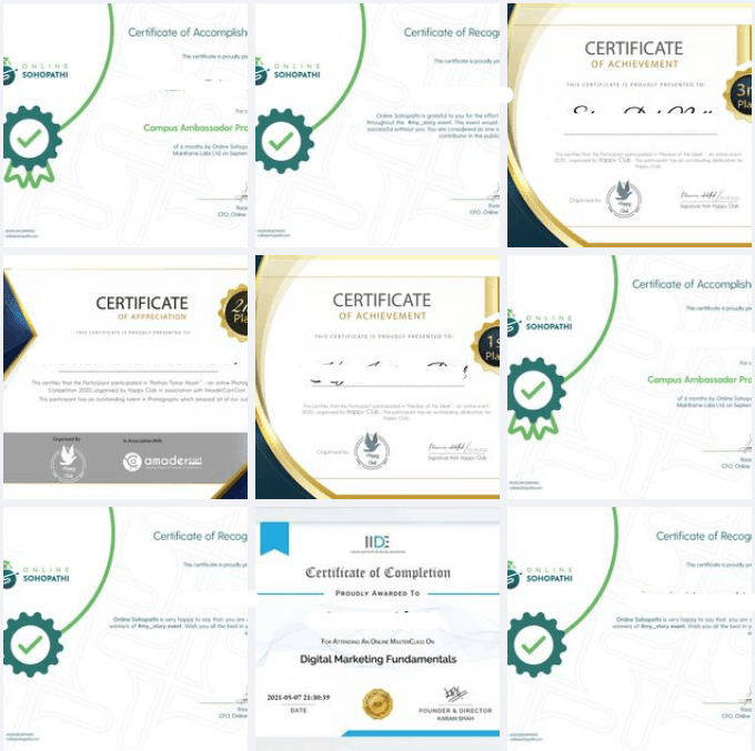 People focuses on completing the course as soon as possible to show the certificate on social media